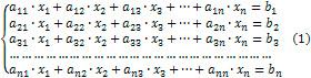 Система лінійних рівнянь