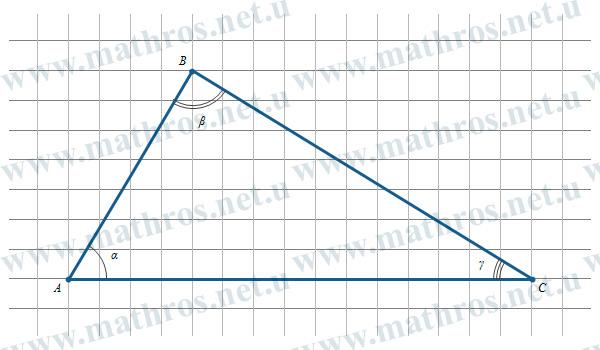 Розв'язування трикутників, як знайти сторону трикутника